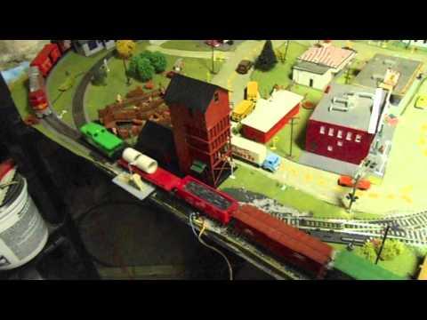 My 4×8 basement HO model railroad layout! (OLD)