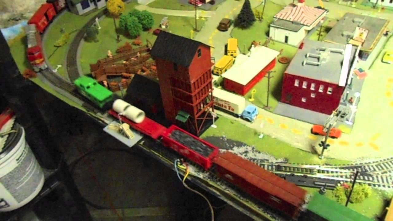 My 4x8 basement HO model railroad layout! (OLD)