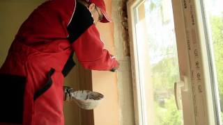 Zednické zapravení oken a utěsnění vnější připojovací spáry