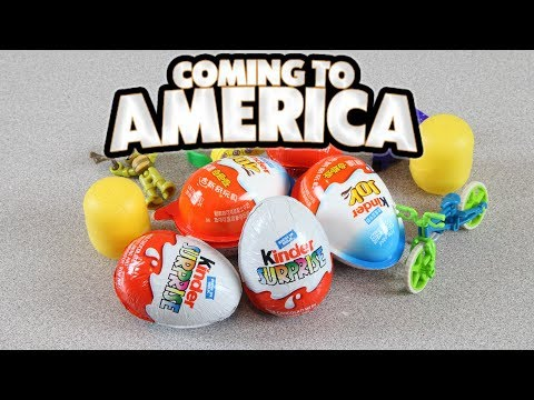 Kinder Eggs Coming to America!  Kinder Joy Chocolate Surprise Eggs