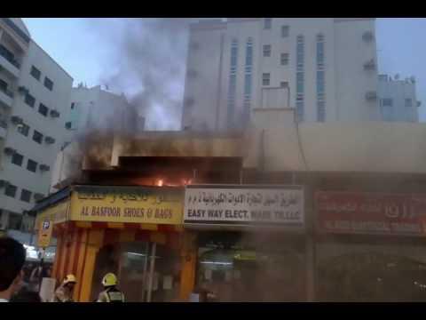 United Arab Emirates  ((dubai)) shop  fire