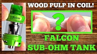 WOOD PULP In Coils?! RTA Flavor From A SubOhm Tank! The Falcon By HorizonTech!