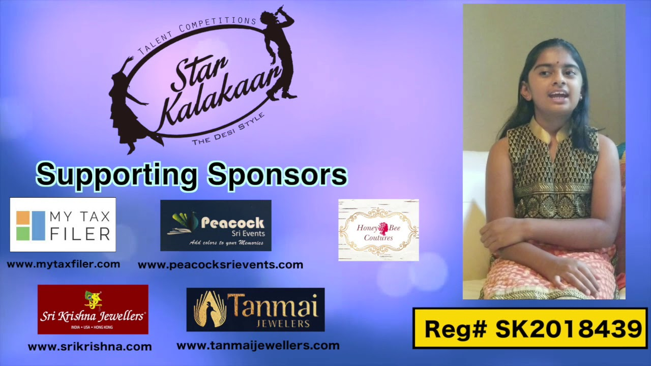 Participant Reg# SK2018-439 Introduction - US Star Kalakaar 2018 || DesiplazaTV