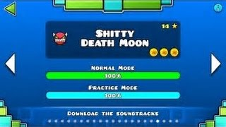Shitty Death Moon 100% + Mouse Cam || Geometry Dash