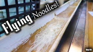Flowing Japanese Bamboo Noodles (Nagashi Somen)|Day 95 - Miyazaki
