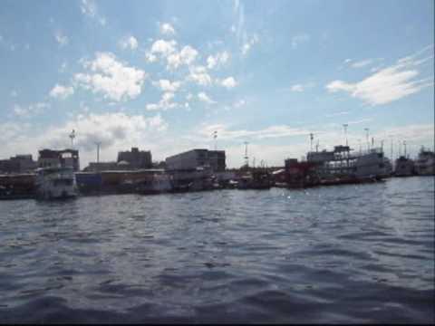 Port de Manaus en Amazonie du Brésil