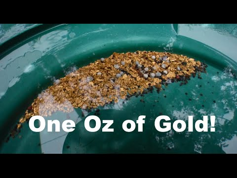 Another One Oz Gold Cleanup! Week 7 2015 Oregon Gold Dredge Season