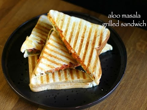 aloo masala grilled sandwich | potato grilled sandwich | how to make grilled sandwich