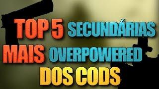 TOP 5 armas SECUNDÁRIAS mais OPs da história de Call of Duty