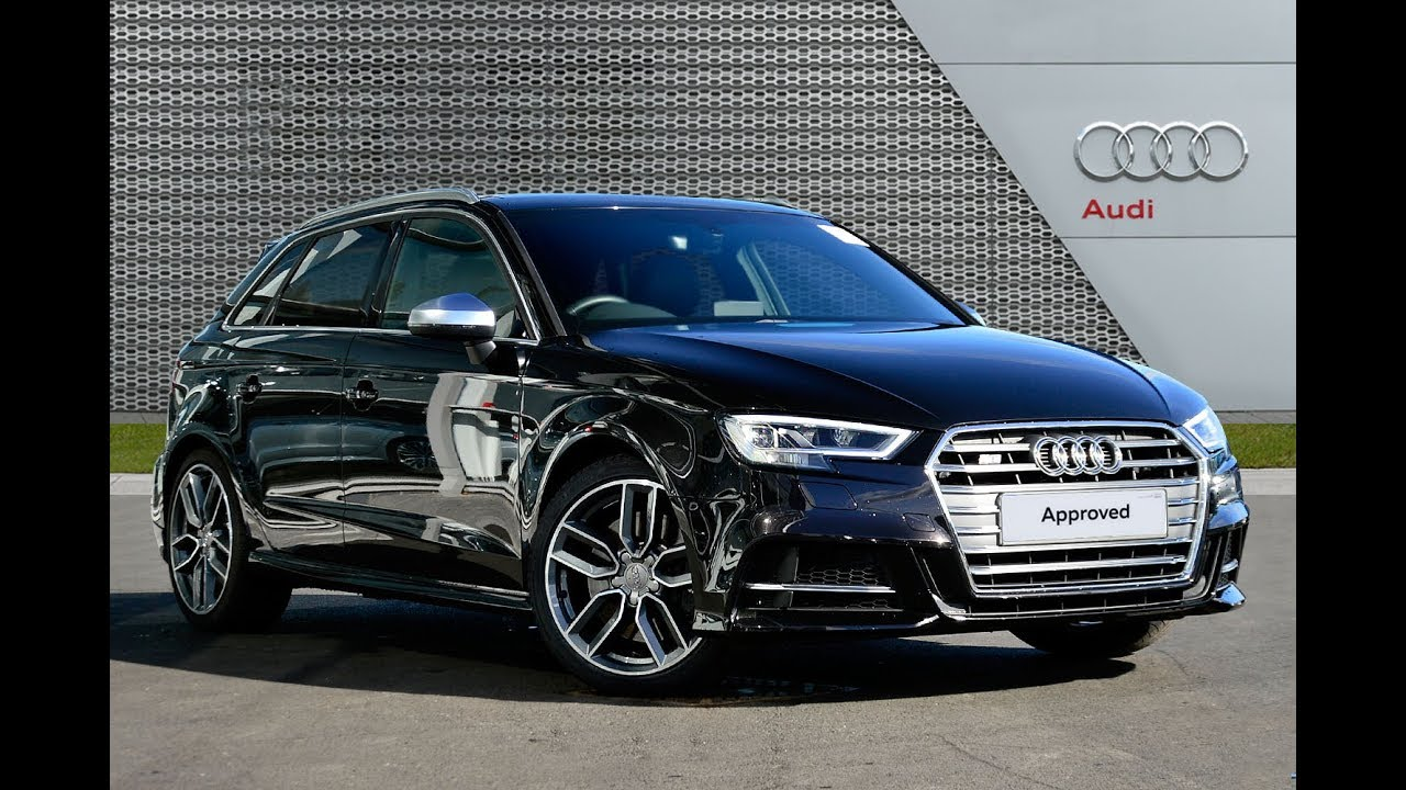 audi a3 s3 sportback quattro black 2017 youtube. Black Bedroom Furniture Sets. Home Design Ideas
