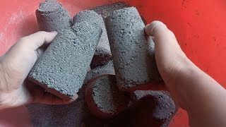 ASMR   Dusty soft charcoal glass dry  crumbling