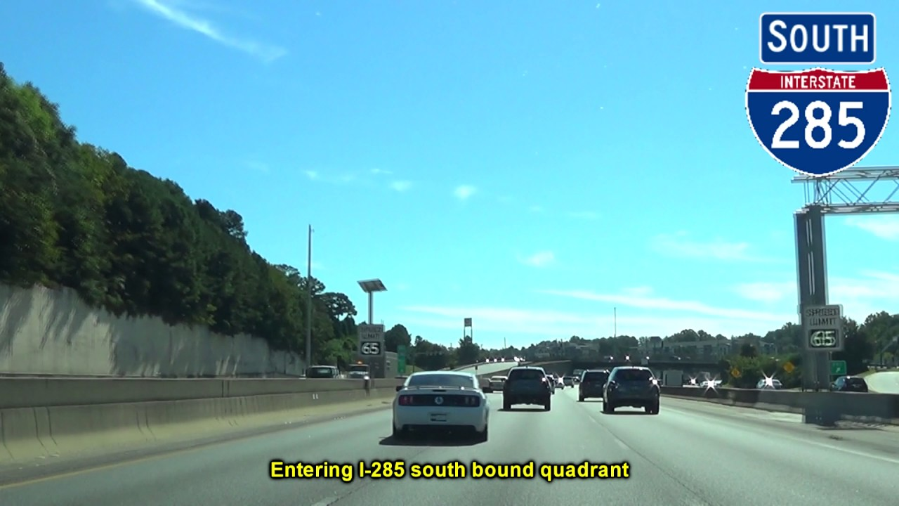 I 285 East South In Atlanta Ga Youtube