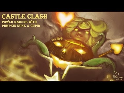Castle Clash Power Raiding With Pumpkin Duke And Cupid