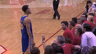 Golden State Warriors Fired Up Moments : Stephen Curry Catches Fire In The 2nd Half VS Rockets