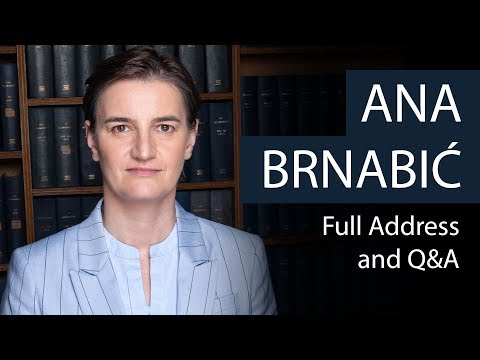 Ana Brnabić | Prime Minister of Serbia | Oxford Union