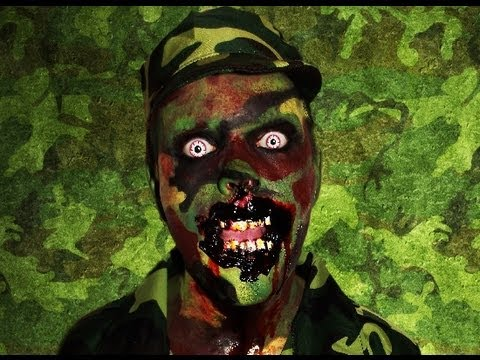 Zombie Soldier - (BIA) Bitten in action - Makeup Tutorial! - YouTube