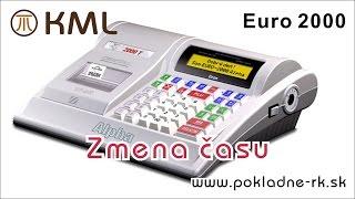 Zmena času - pokladnica Euro 2000