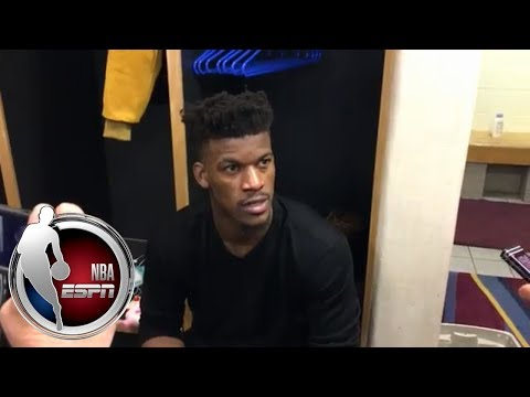 Jimmy Butler frustrated with reporter's question after Timberwolves' OT loss to Cavaliers | ESPN