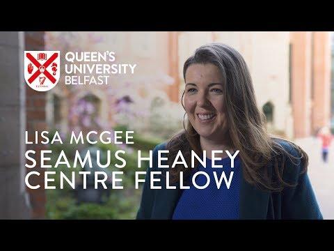 Lisa McGee, Seamus Heaney Centre Fellow