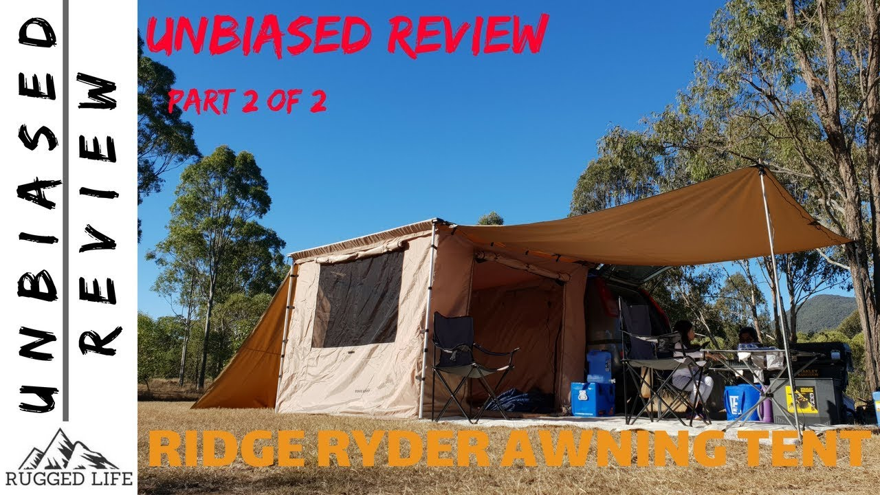 4Wd Awning Tent ridge ryder awning tent part 2 of 2 - unbiased review