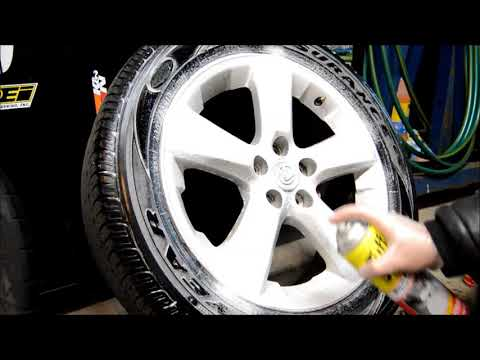 Wheels cleaning from excessive brake dust and/or metallic particles due to frozen caliper issue.