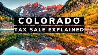 Colorado Tax Lien Certificates: Online Auction Investing Tutorial Video Training