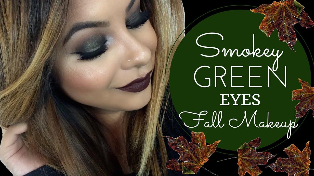 Smokey Green Eyes Fall Makeup Youtube