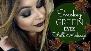 Smokey Green Eyes | Fall Makeup
