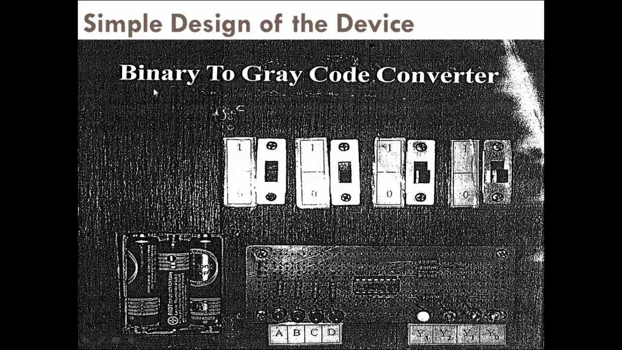 4 Bit Binary To Gray Code Converter Youtube Bcd Circuit