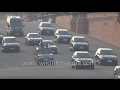 BMW Mercedes convoy of PM Narendra Modi at Vijay Chowk