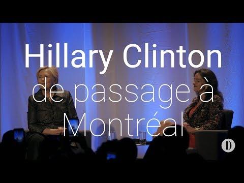 Hillary Clinton de passage à Montréal