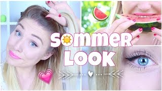 easy SOMMER LOOK in 5 Minuten ♥ Haare / Make-Up & Styling | BibisBeautyPalace