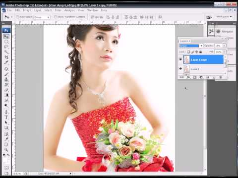 Photoshop CS3 - Phan 4 - Bai 6 - Xu ly anh cuoi lon treo trong nha hang 60 x 90
