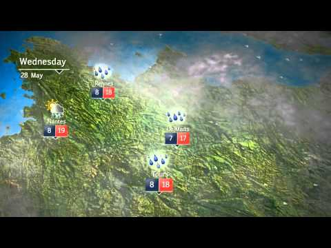 France weather graphics
