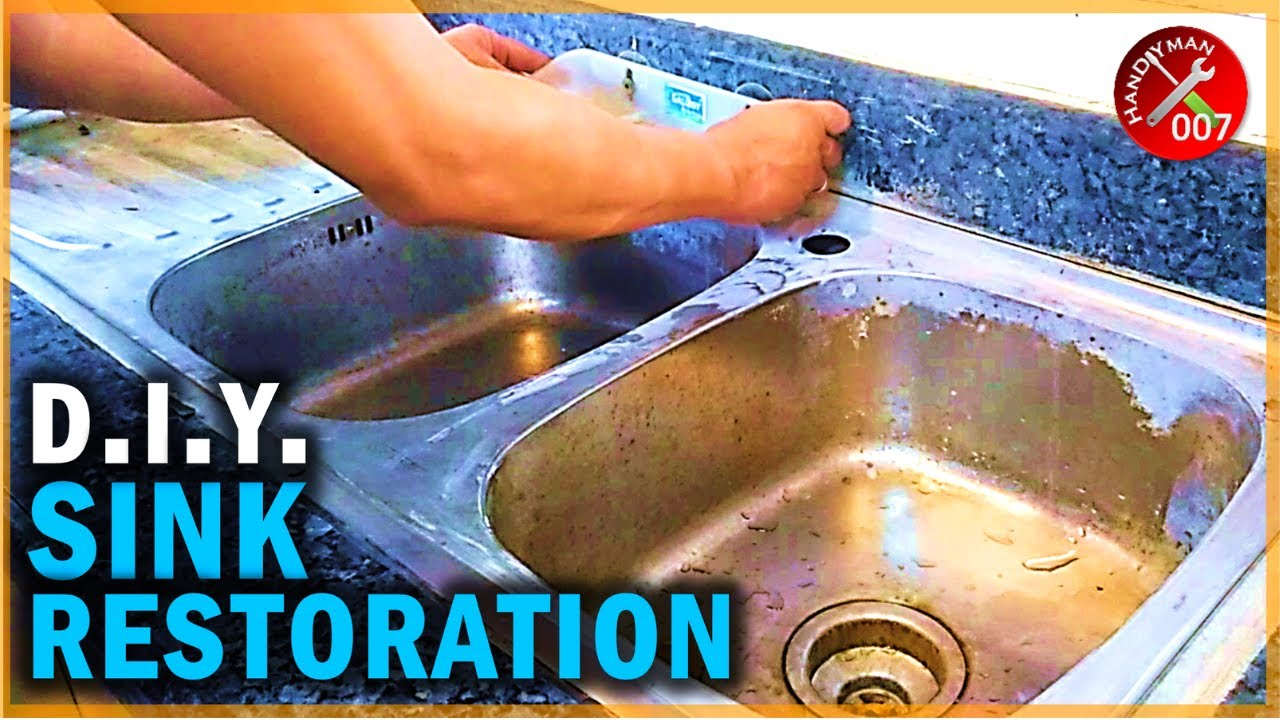 How to Restore Stainless Steel Sink | Kitchen Sink Restoration to