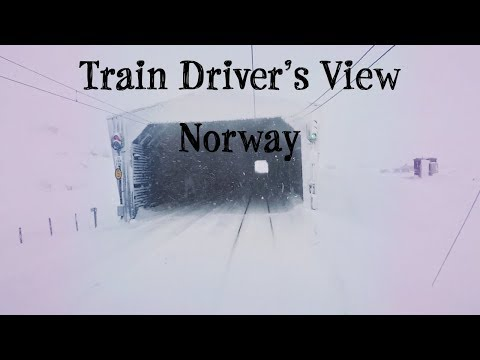 Train Driver's View: Bad weather Christmas Day Run on the Be