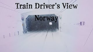 TRAIN DRIVER'S VIEW: Bad weather Christmas Day Run on the Bergen Line