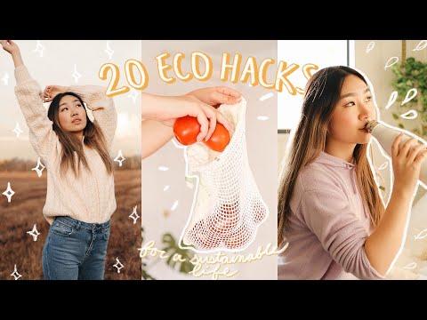 20 Eco DIYs + Hacks to Save the Planet (sustainability tips + thrift haul)   JENerationDIY