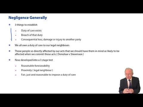 Law of Tort: Types of Tort, Negligence - ACCA Corporate and Business Law (LW) (ENG)