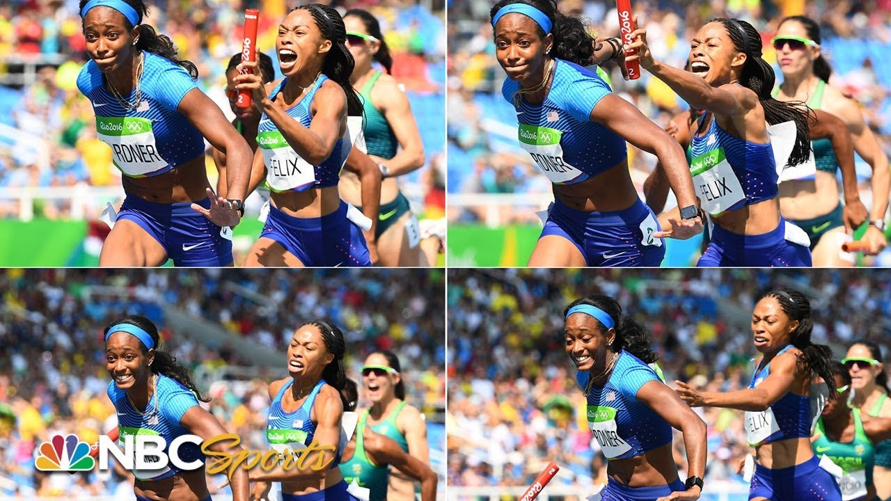 Allyson Felix and Team USA win gold after dropping the baton | NBC Sports