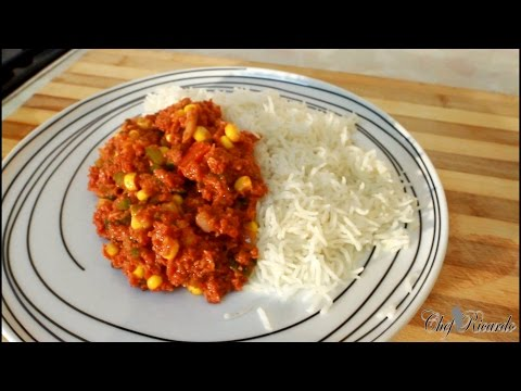 Jamaican 20 Minutes Corned Beef And Rice Recipe [Jamaican Chef ] | Recipes By Chef Ricardo