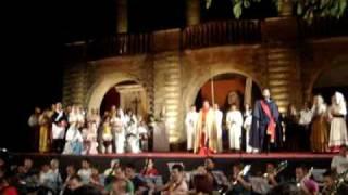 Scarpia & Te Deum with Chorus REHEARSAL - Tosca Puccini Lecce 2009