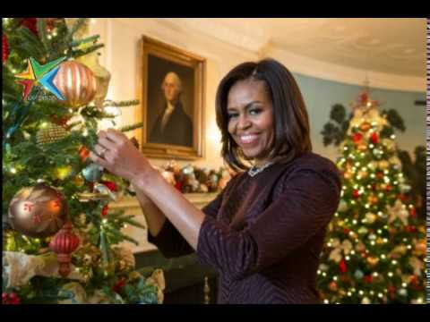 melania trump vs michelle obama the white house christmas decorations