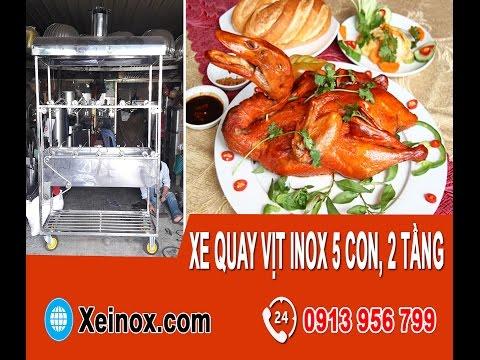 Xe Quay Vịt Inox 5 Con 2 Tầng - Xeinox.com