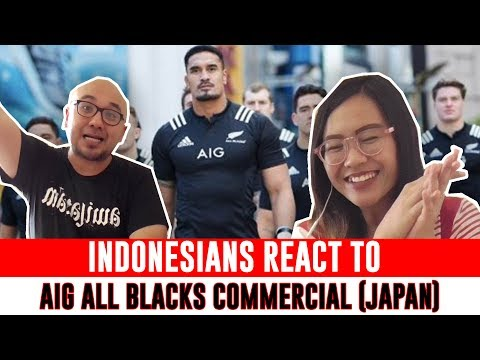 Indonesians React To Japanese Commercial ALL BLACKSが東京に出現? #TackleTheRisk #AllBlacks | AIG JAPAN