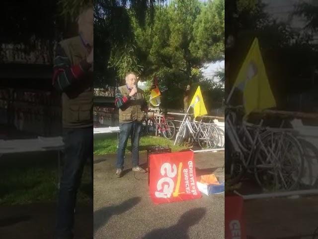 Intervento di Pablo (FLNA) per lo sciopero del 25/10 e la manifestazione contro i DL sicurezza