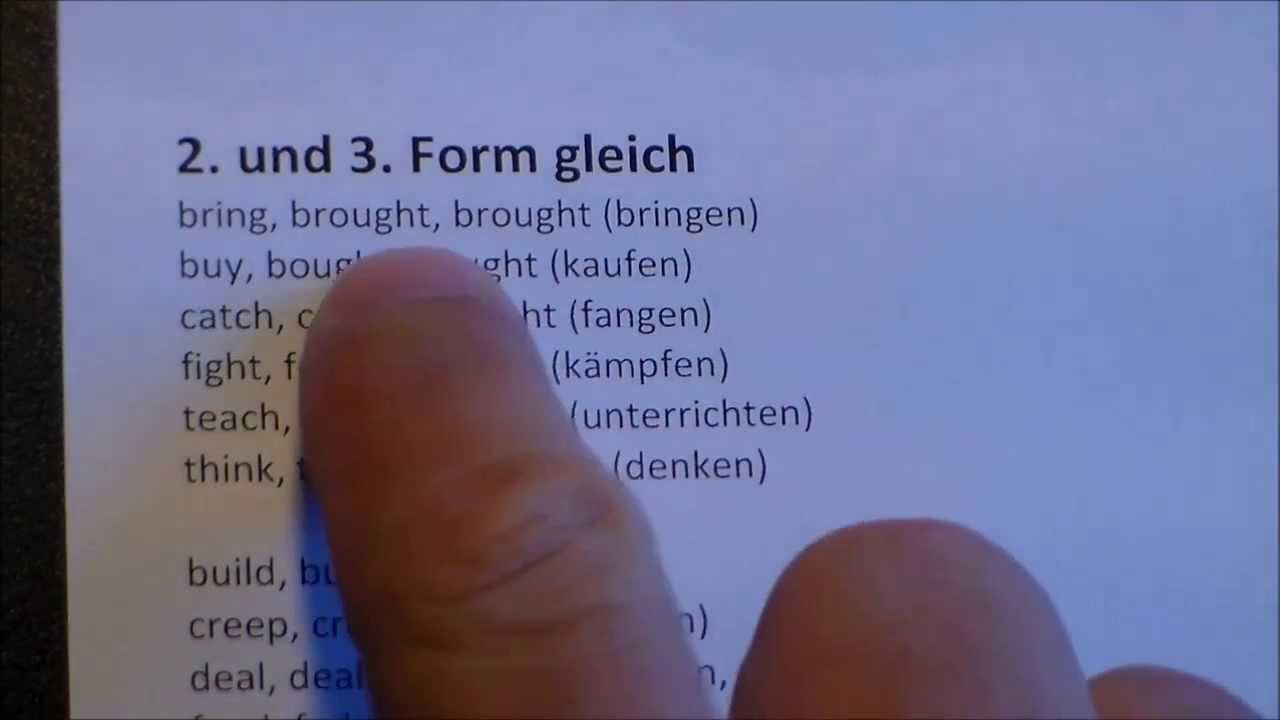 Unregelmäßige Verben im Englischen leichter lernen (Tipps und Tricks ...