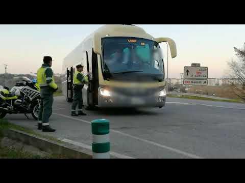 La Guardia Civil vela por el cumplimiento de las restricciones en autobuses