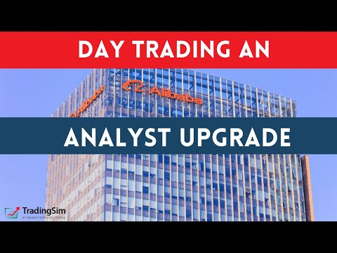 Day Trading a BABA analyst Upgrade - Big Break through Major Resistance