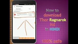 How to download Thor Ragnarok full 720p hd |dual audio Hindi